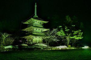 夜の三重塔
