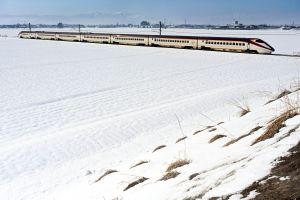 雪原を行く・新幹線つばさ