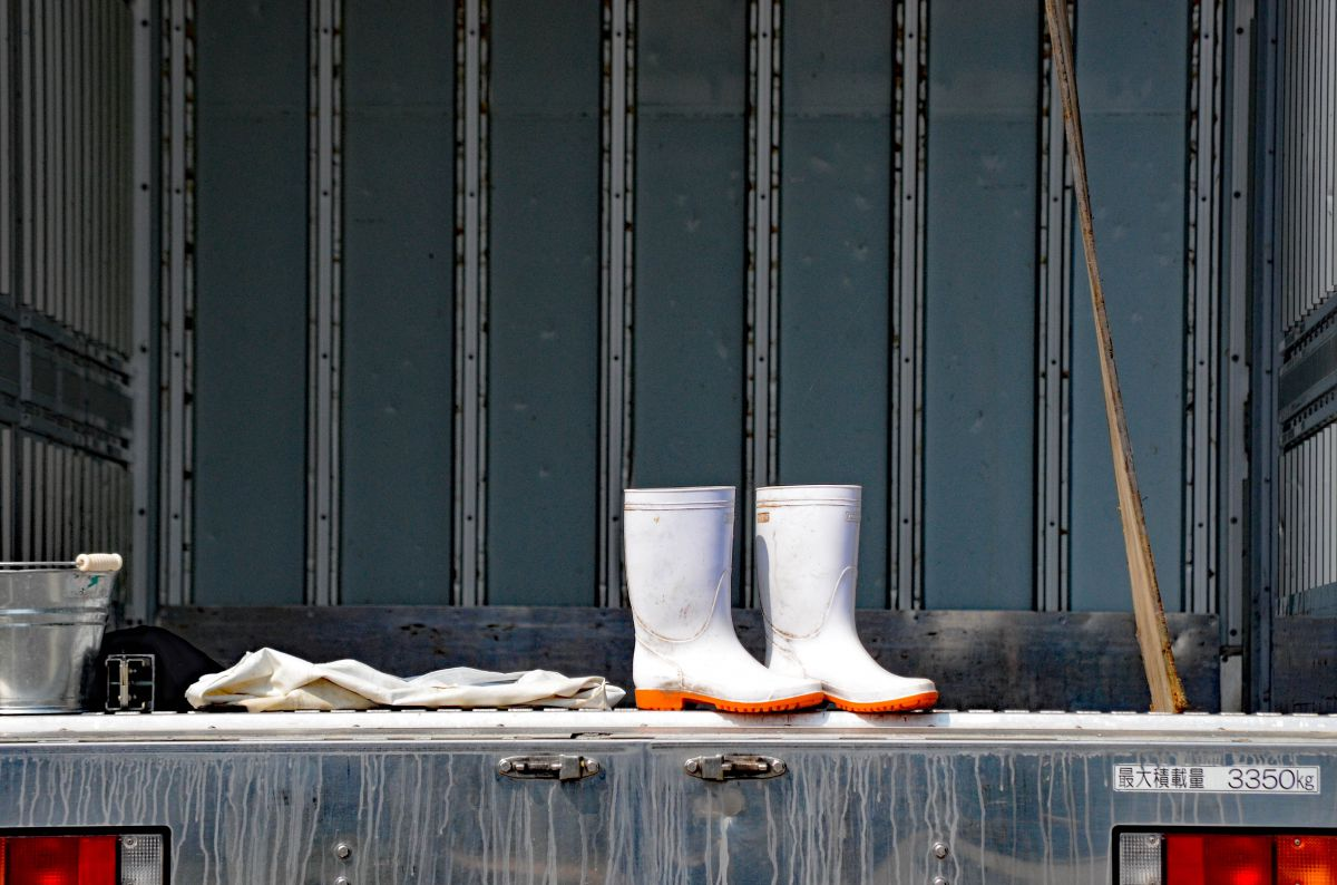 白い 長靴