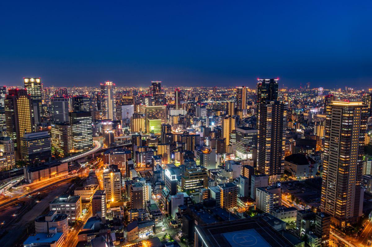 大阪夜景 街並み 建物 夜景 Ganref