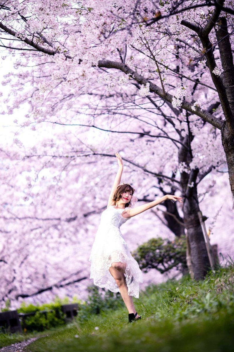 風 を 春の