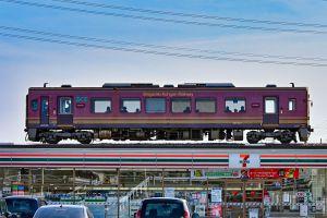 セブンイレブン電車